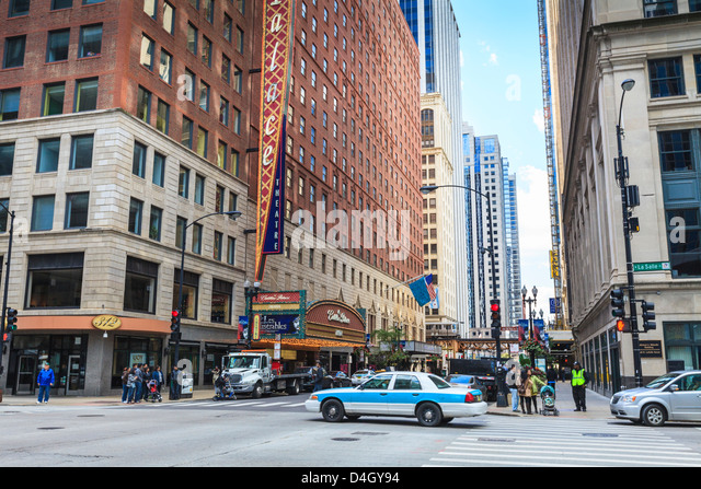 Theatre District, The Loop, Chicago, Illinois, USA - Stock Image