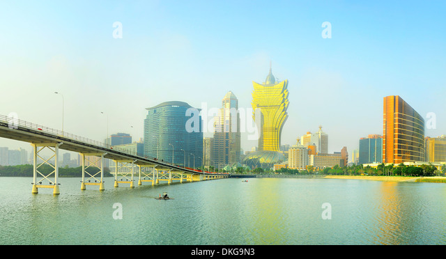 Panoramic view of Macau downtown - Stock Image