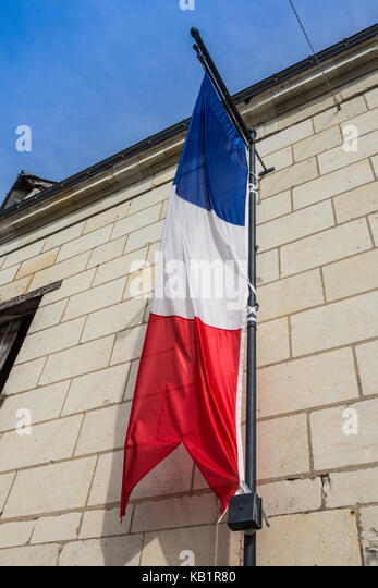 French national flag - tricolour - Stock Image