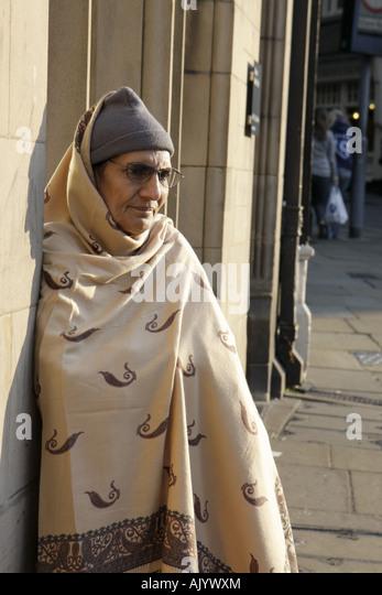 UK, England, Durham City, Market Place, Indian woman, - Stock Image