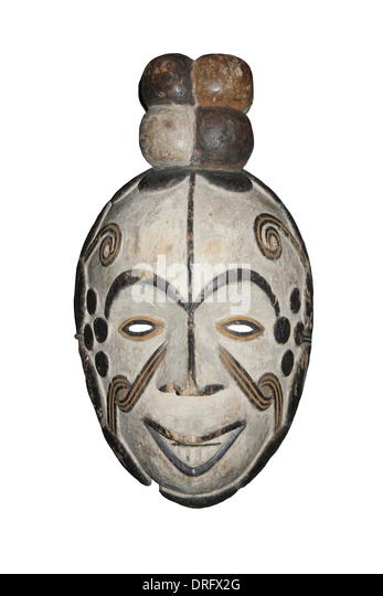 Nigerian Igbo - Okorosia Masquerade Mask - Stock Image