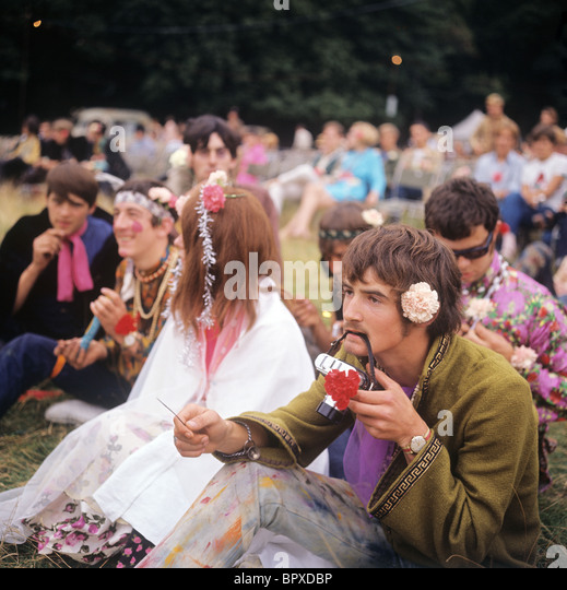 Hippy in London, 1967 - Stock-Bilder