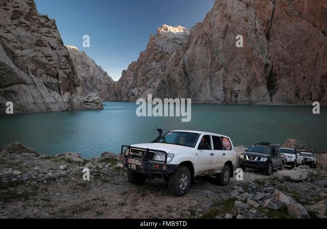 Kyrgyzstan, province or oblasty of Naryn, Kol-Suu lake between Kotour and Kol-Suu in the Tian Shan mountain range - Stock-Bilder
