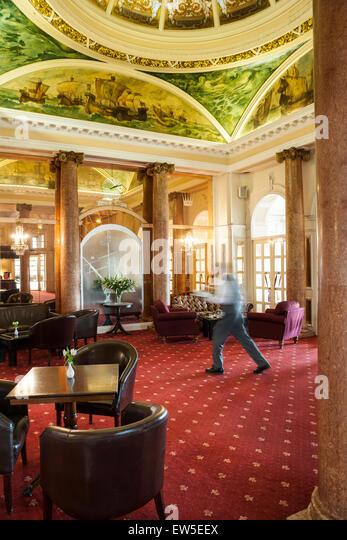 Foyer Reception Area : Luxury hotel reception stock photos