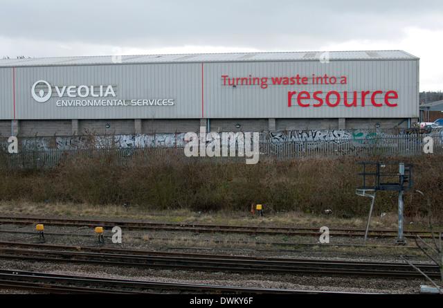 Veolia waste management plant, Tyseley, Birmingham, UK - Stock Image