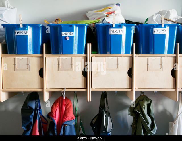 Preschool hallway - Stock Image