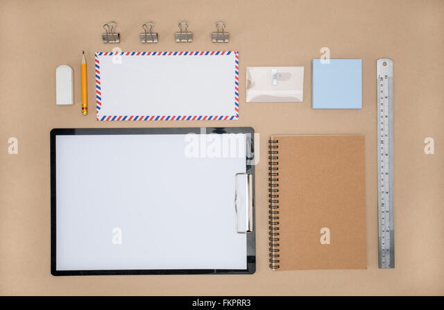 Office Supply of stationary in everyday life, business Plan work paperwork - Stock-Bilder