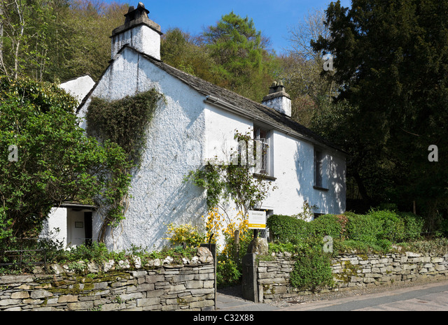Dove Cottage (the home of William Wordsworth), Grasmere, near Lake Windermere, Lake District National Park, Cumbria, - Stock Image
