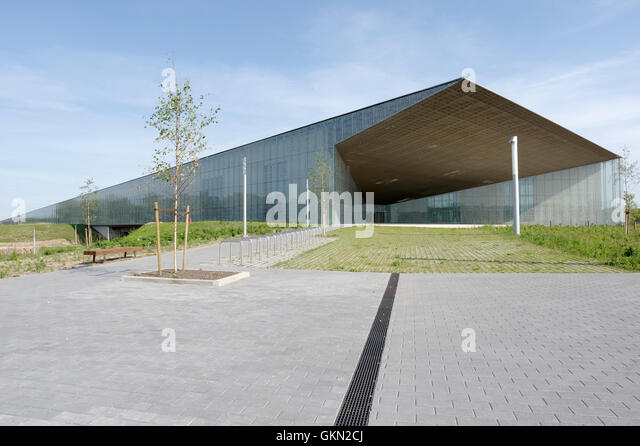 Estonian National Museum main building.Tartu. Estonia 21th august 2016 - Stock Image