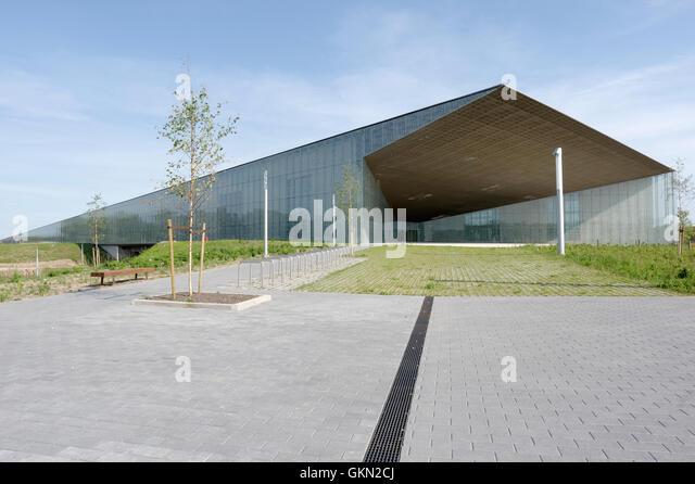 Estonian National Museum main building.Tartu. Estonia 21th august 2016 - Stock Image