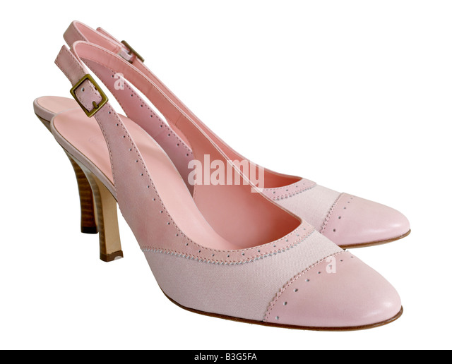 Pink High heel shoes - Stock Image