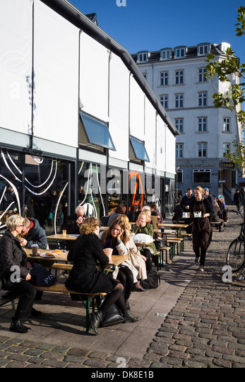 The Coffee Collective cafe at Torvehallerne, the new food market opened in Sept. 2011 at Israels Plads, Copenhagen, - Stock Image