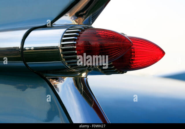 Car tail fin stock photos car tail fin stock images alamy for American classic lighting