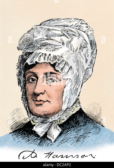 Anna Symmes Harrison, wife of William Henry Harrison. - Stock Image