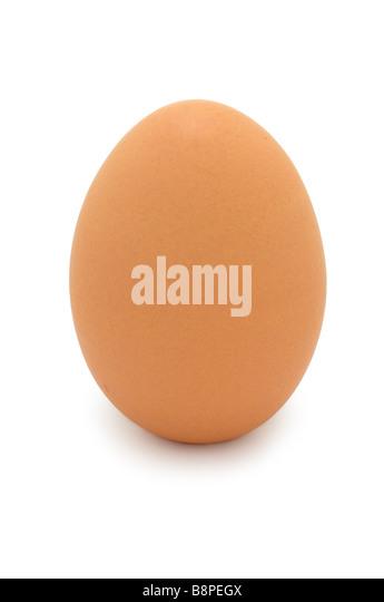 Brown Hen Egg - Stock Image