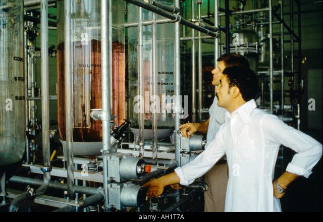Dahran Saudi Arabia University Of Petroleum And Minerals Lab And Technicians - Stock Image