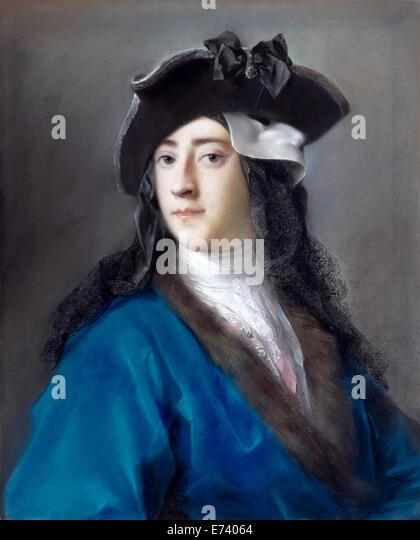 Gustavus Hamilton, Viscount Boyne in Masquerade Costume - by Rosalba Carriera, 1731 - Stock Image