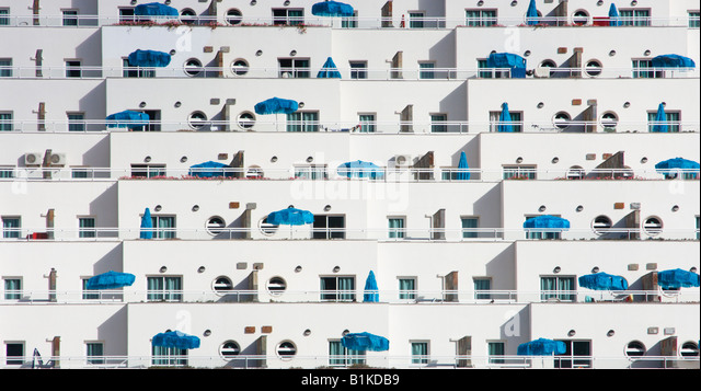 Holiday apartments in Puerto Rico on Gran Canaria - Stock Image