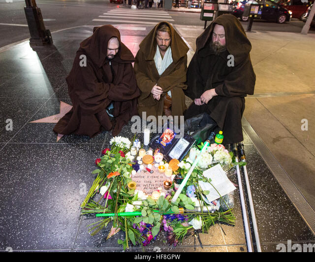 Hollywood, California, USA. 28th December, 2016. Actress Carrie Fisher who passed away yesterday on December 27th, - Stock Image