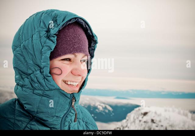 Seymour Mountain Snowshoe - Stock Image