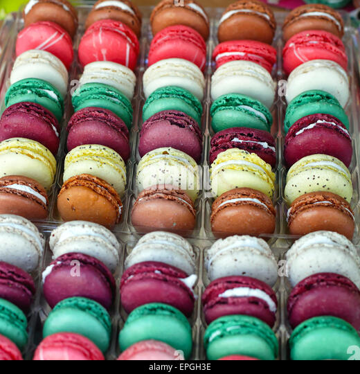 French macaroons - Stock Image