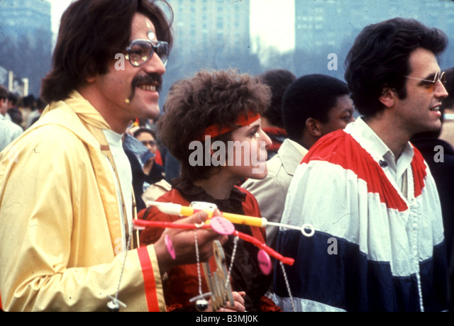 FLOWER POWER gathering in San Francisco in 1967 - Stock Image