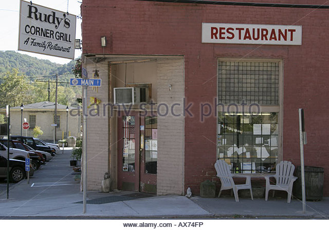 West Virginia Ronceverte Rudy's Corner Grill $6 lunch buffet country style cooking - Stock Image