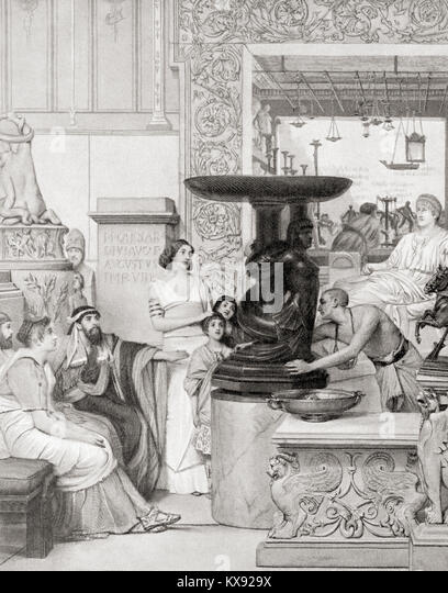 A Roman sculpture gallery.  From Hutchinson's History of the Nations, published 1915. - Stock Image
