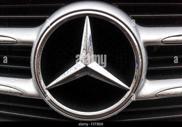Mercedes car sign mark stock photos mercedes car sign for Mercedes benz sign in