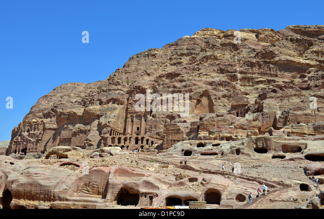 The Urn Tomb, Petra, Jordan. - Stock Image