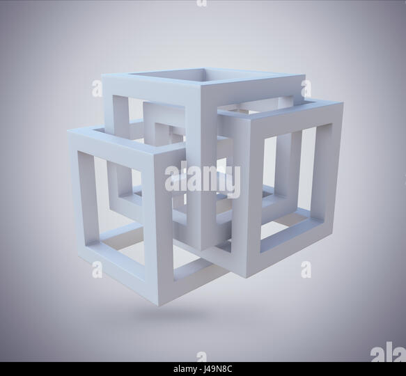 Abstract structure background - 3D illustration - Stock-Bilder