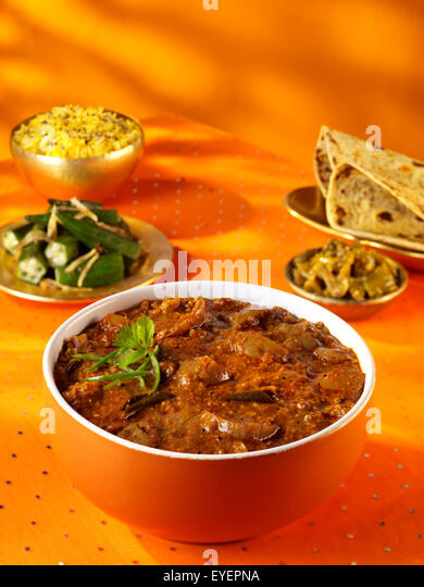 INDIAN BRINJAL CURRY - Stock Image