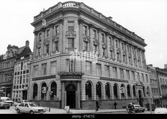 Midland Bank, Newcastle. 20th February 1983. - Stock Image