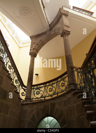 staircase in the Centro Cultural Metropolitano, Quito - Stock Image