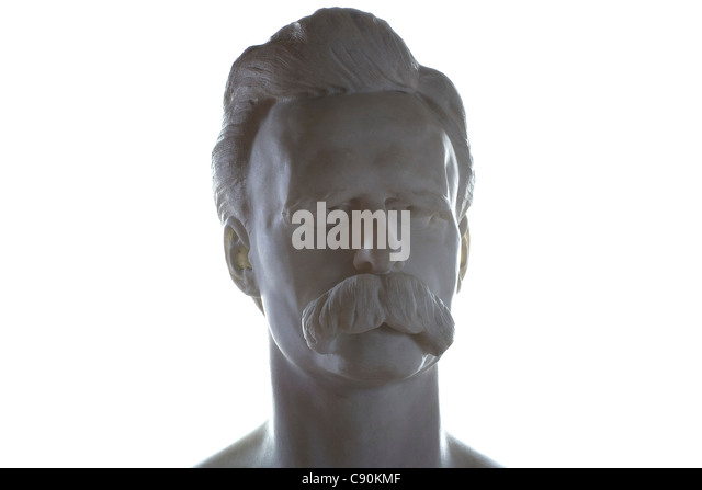 Bust of Friedrich Nietzsche, Nietzsche Archive, Weimar, Thuringia, Germany, Europe - Stock Image