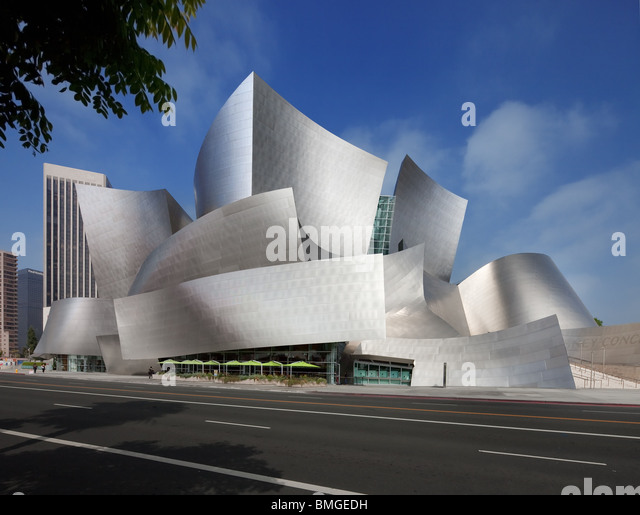 Walt Disney Concert Hall, Los Angeles, California - Stock Image