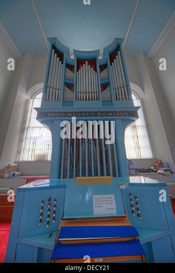 Canongate Kirk Church Edinburgh Royal Mile, Scotland, UK Organ on upper level - Stock Image