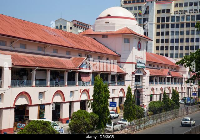Bogyoke Aung San Market, Yangon, Myanmar - Stock-Bilder
