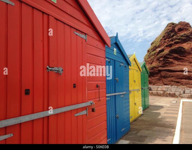 Beach huts - Stock Image