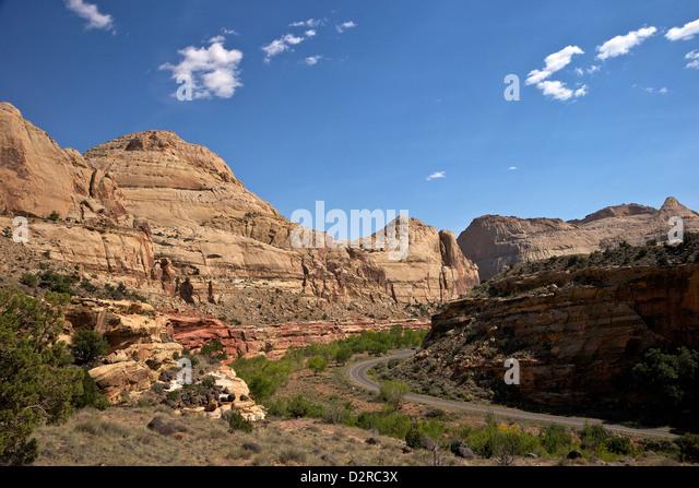 Highway 24, Capitol Reef National Park, Utah, United States of America, North America - Stock Image