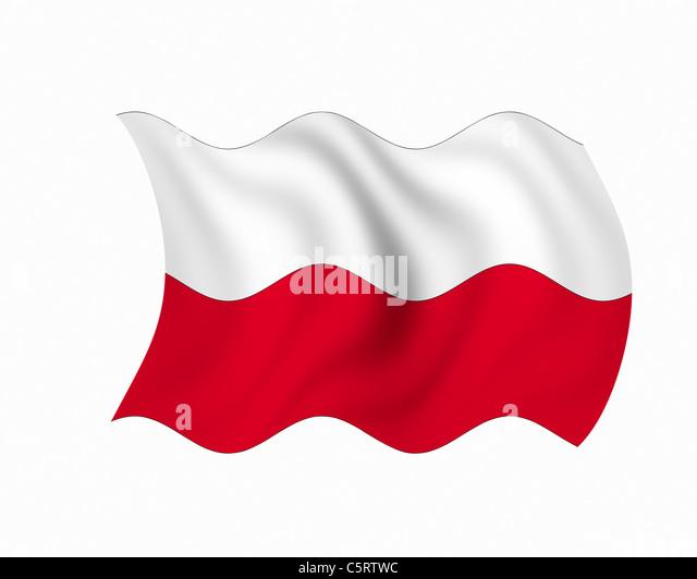 Illustration, Flag of Poland - Stock Image