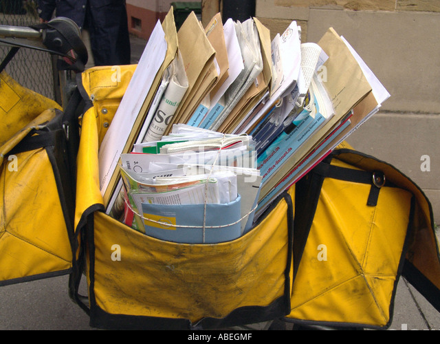 mailbag of the German post office - Stock Image