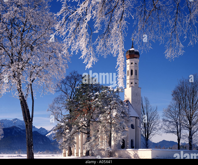 DE - BAVARIA:St Coloman near Schwangau - Stock-Bilder