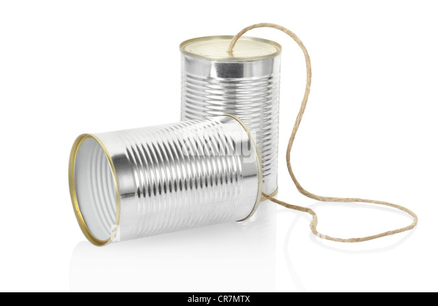 Can phone - Stock Image