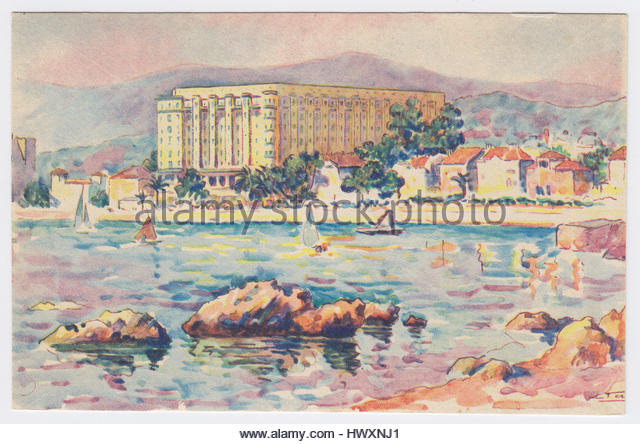 Hôtel Martinez, Cannes, France - Stock Image