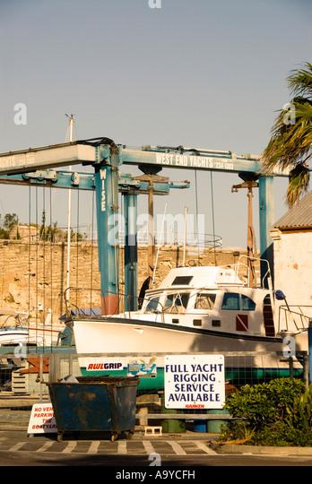 Bermuda Dockyard boat repair facilty drydock - Stock Image