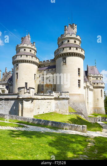 Pierrefonds Castle, Picardie (Picardy), France - Stock Image