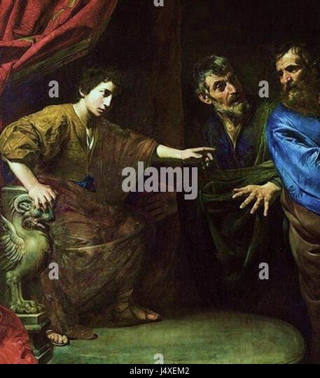 Valentin de boulogne the judgement of daniel - Stock Image
