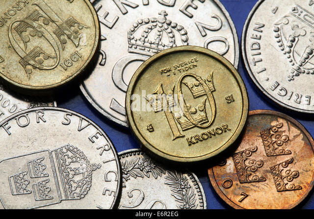 Swedish Krona And Coin Stock Photos & Swedish Krona And ...