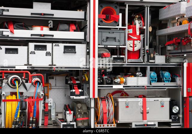Firetruck equipment - Stock Image